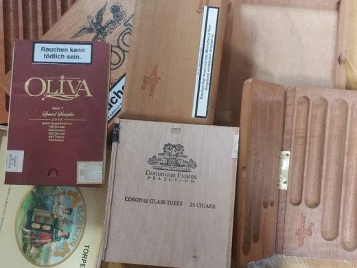 Münzring 5 Reichsmark Hindenburg mit Zigarrenkisten Holz Größe 56 bis 70
