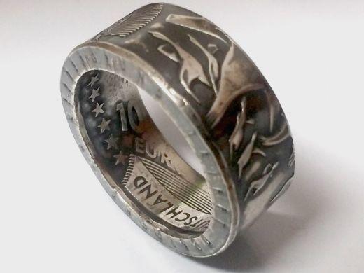 Münzring 10 Euro 2004 Nationalpark Wattenmeer Silber 925er Größe 56 bis 74
