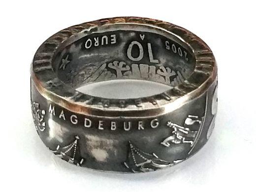 Münzring 10 Euro 2005 1200 Jahre Magdeburg Silber 925er Größe 56 bis 74