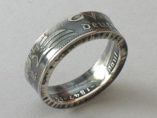 Münzring 2 Reichsmark Silber Adler 1936-39 Silber 625er Größe 52 bis 62
