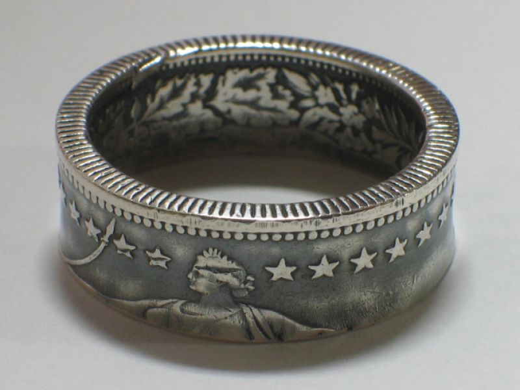 Münzring Schweiz 2 Franken Silber 835er Helvetia Größe 52 bis 70
