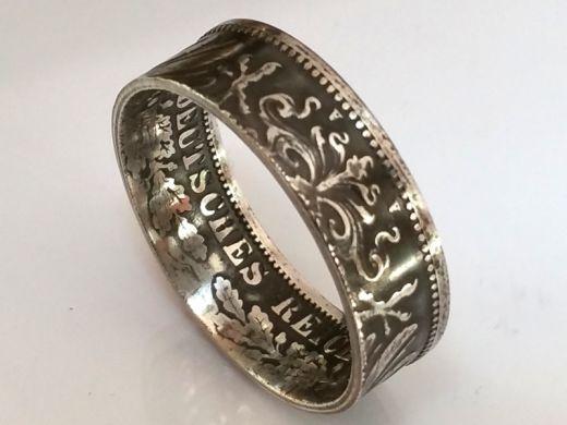 Münzring 1 Mark Kaiserreich Silber 900er 1891-1916 Größe 54 bis 60