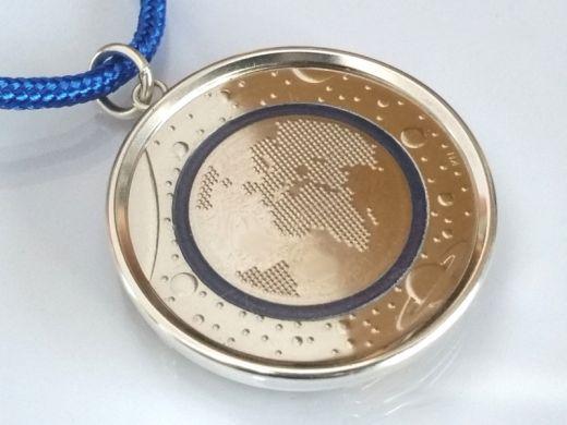 Münzfassung Ø 27,25mm Silber 925er 5 Euro 2016 Planet Erde / 2017 Tropische Zone
