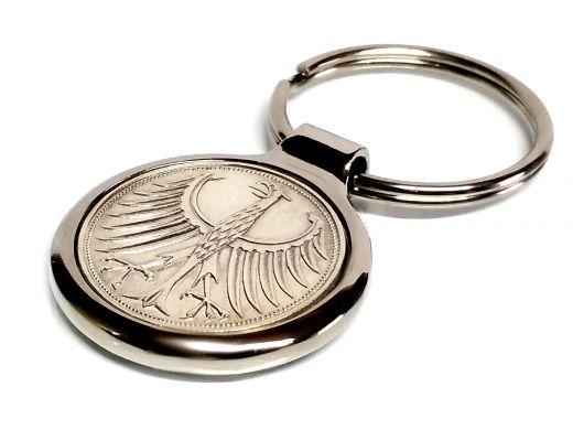 Metall Schlüsselanhänger 5 Mark Silber 625er Silberadler Heiermann Adler