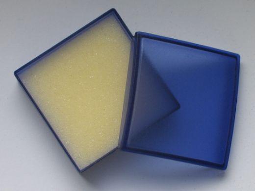 Schmucketui aus Kunststoff, Innenmaß: L x B x H 38 x 38 x 14 mm