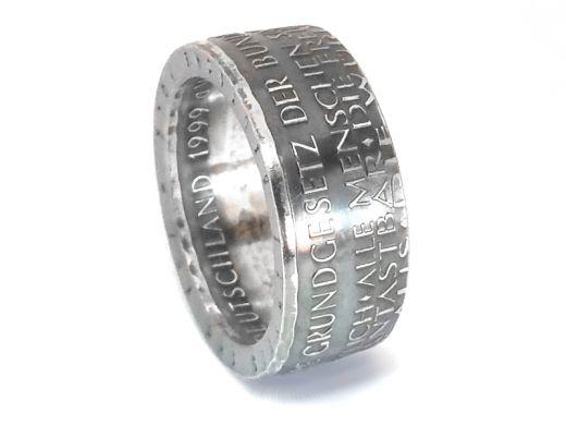 Münzring 10 Mark 1999 50 Jahre Grundgesetz Silber 925er Größe 56 bis 72