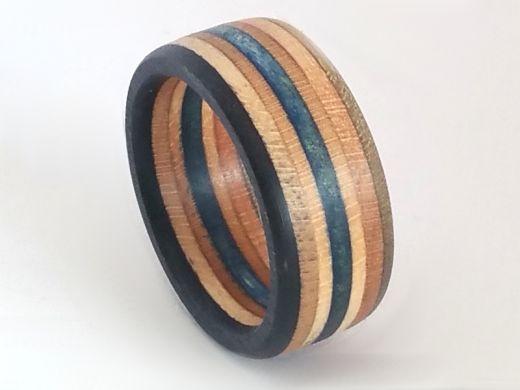 Upcycling Skateboard Ring Breite 9 mm gewachst Ringgröße 48 bis 74