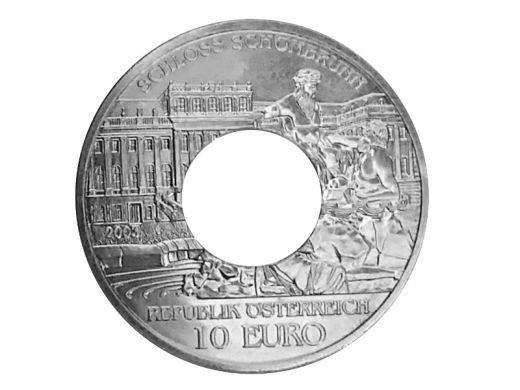 Münzring Österreich 10 Euro 2003 Schloss Schönbrunn Silber 925er Größe 56 bis 74