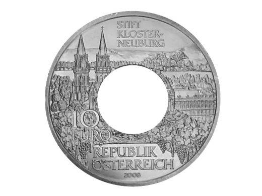 Münzring Österreich 10 Euro 2008 Stift Kloster-Neuburg Silber 925er Gr. 56 bis 74