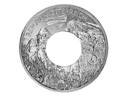 Münzring Österreich 10 Euro 2010 Kaiser Karl im Untersberg Silber 925er Größe 56 bis 74