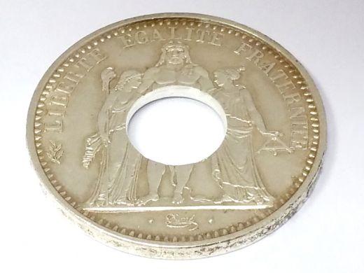 Münzring Frankreich 10 Francs 1965 Herkules-Gruppe Silber 900er Gr. 60 bis 74