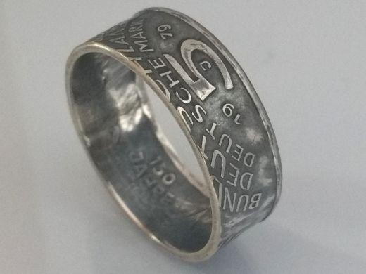Münzring 5 Mark 1979 Archäologisches Institut Silber 625er Größe 54 bis 72