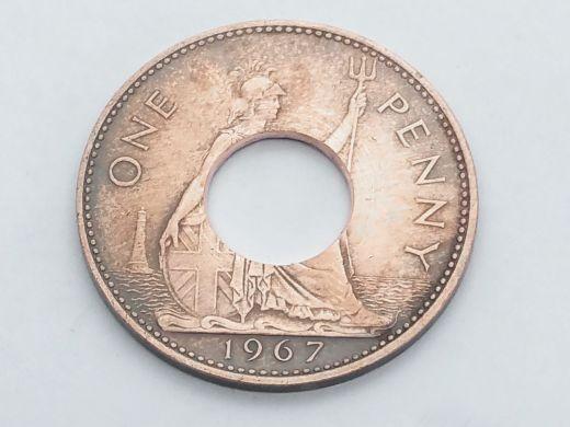 Münzring Großbritannien 1967 mit Edelstahlkern Größe 73