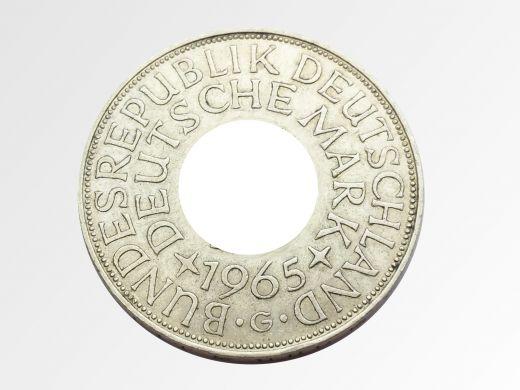 Münzring 1958 BRD 5 Mark mit Datum Heiermann Silberadler Silber 625er