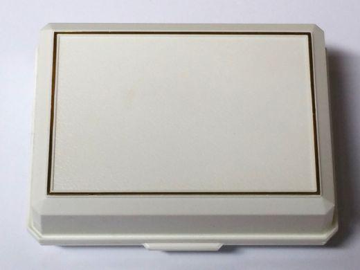 Manschettenknopfetui in Kunststoff weiß
