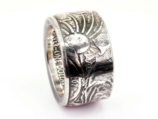 Münzring USA American Silber Eagle Feinsilber 999er Größe 66 bis 76