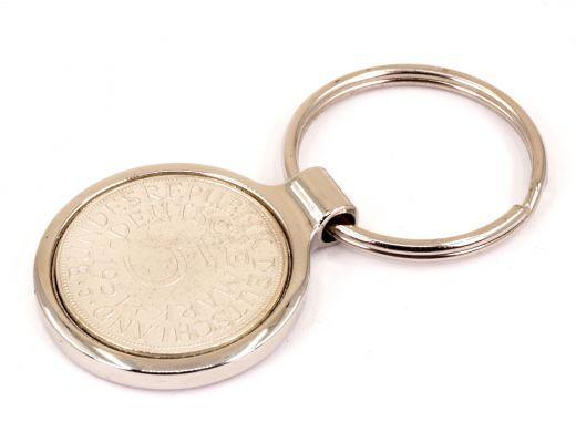 Metall Schlüsselanhänger 5 Mark mit Datum Silber 625er Silberadler Heiermann Adler
