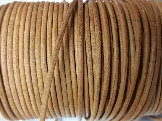 1 Meter Lederband natur Ø ca.: 2 mm