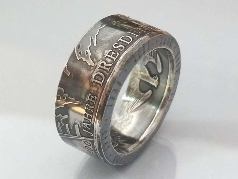 Münzring Silber 925er Deltadesign24