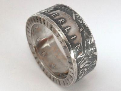 Münzring 10 Euro 2002 MUSEUMSINSEL BERLIN Silber 925er Gr 56 bis 74 vintage
