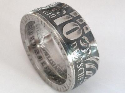 Münzring 10 Mark 2001  Bundesverfassungsgericht Adler Silber 925er Größe 56 bis 72