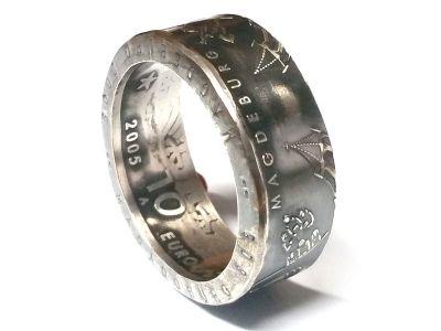 Münzring 10 Euro 2005 1200 Jahre Magdeburg Silber 925er Gr 56 bis 74 vintage