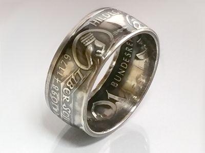 Münzring 10 Mark 1998 Hildegard von Bingen Silber 925er Größe 56 bis 72