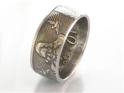 Münzring 10 Mark 1998 Franckesche Stiftungen Silber 925er Größe 56 bis 72