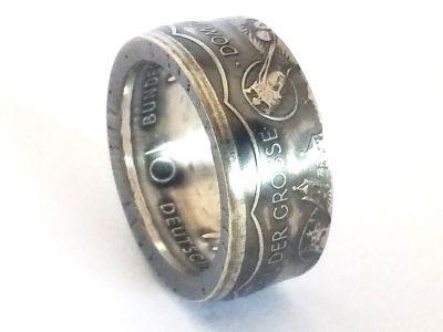 Münzring 10 Mark 2000 Karl der Große Silber 925er Größe 56 bis 72