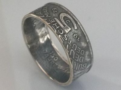 Münzring 5 Mark 1979 Archäologisches Institut Silber 625er Gr 54 bis 72 vintage