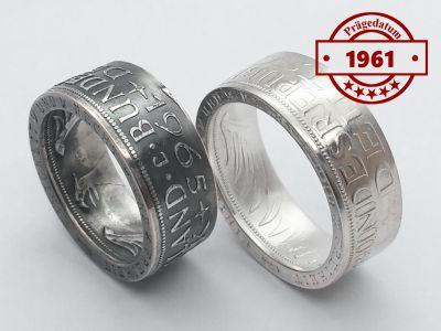Münzring 1961 BRD 5 Mark mit Datum Heiermann Silberadler Silber 625er