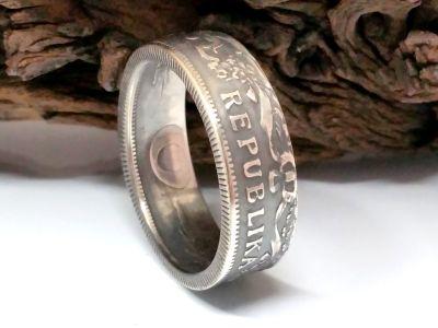 Münzring Lettland 2 Lati 1925-1926 Silber 835er Größe 54 bis 66