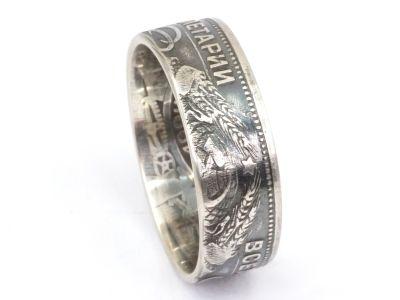 Münzring Russland UDSSR 50 Kopeken 1924 Silber 900er Größe 54 bis 64