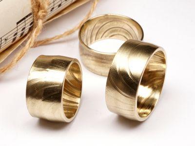 Ring aus Schlagzeug Becken Messing Größe 58 bis 72