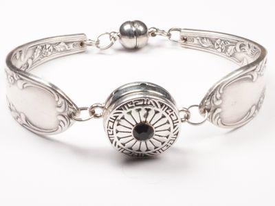 Besteckschmuck Armband versilbert aus upcyceltem Besteck mit Magnetverschluss