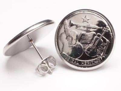 Ohrstecker 25 Cents Münzen USA Tennessee aus Edelstahl Ø 17,7mm