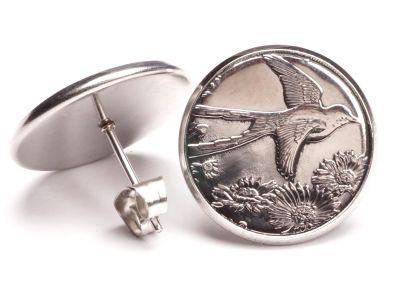 Ohrstecker 25 Cents Münzen USA Oklahoma aus Edelstahl Ø 17,7mm