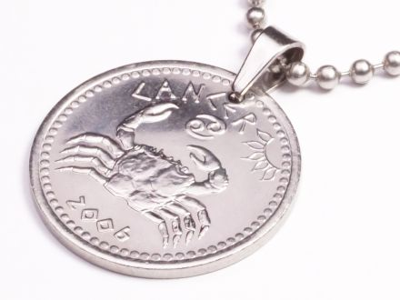Anhänger Sternzeichen Krebs Münze 10 Schilling Somaliland Ø 25 mm