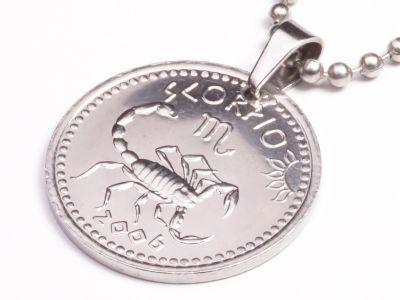 Anhänger Sternzeichen Scorpion Münze 10 Schilling Somaliland Ø 25 mm