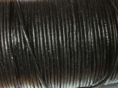 1 Meter Lederband schwarz Ø ca.: 1,3 mm