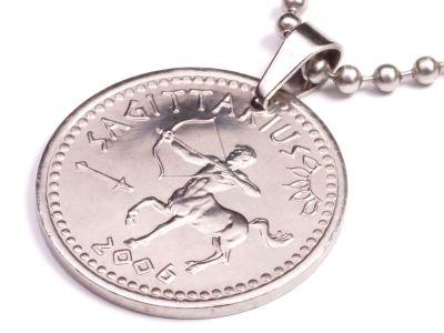 Anhänger Sternzeichen Schütze Münze 10 Schilling Somaliland Ø 25 mm