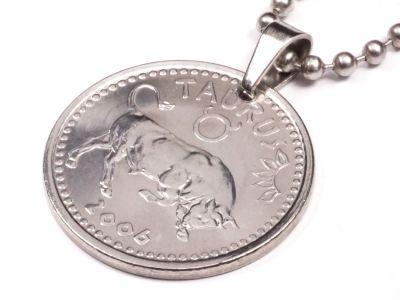 Anhänger Sternzeichen Stier Münze 10 Schilling Somaliland Ø 25 mm