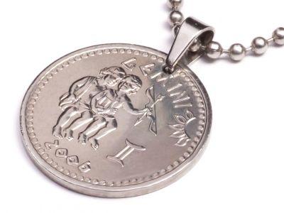Anhänger Sternzeichen Zwillinge Münze 10 Schilling Somaliland Ø 25 mm