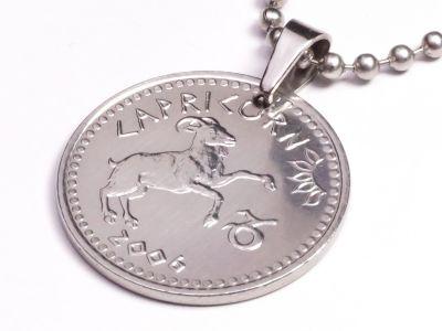 Anhänger Sternzeichen Steinbock Münze 10 Schilling Somaliland Ø 25 mm