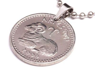 Anhänger Sternzeichen Widder Münze 10 Schilling Somaliland Ø 25 mm