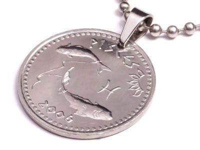 Anhänger Sternzeichen Fische Münze 10 Schilling Somaliland Ø 25 mm