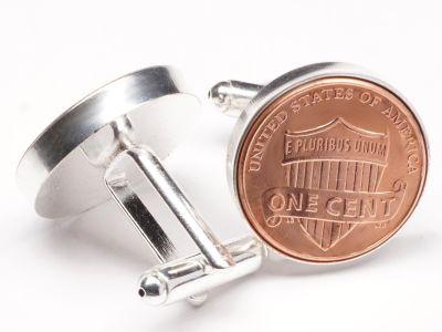 Manschettenknöpfe One Cent USA Union Shield Ø 22mm