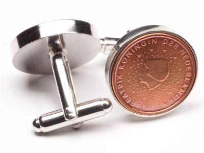 Manschettenknöpfe 2 Cent Niederlande Königin Beatrix Ø 22mm