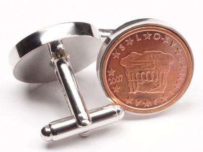 Manschettenknöpfe 2 Cent Slowenien Historische Fürstenstein Ø 22mm