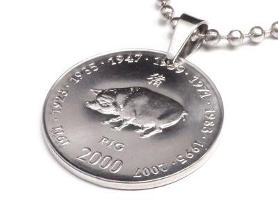 Anhänger Sternzeichen Schwein Münze 10 Schilling Somaliland Ø 25 mm